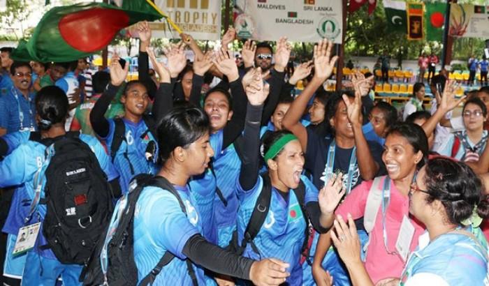শ্রীলংকাকে হারিয়ে সেমিতে বাংলাদেশ মহিলা হ্যান্ডবল দল